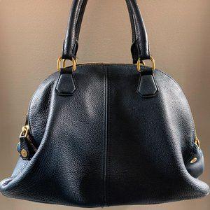 J Crew Hand Bag Navy Leather